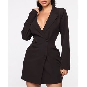 Fashion Nova Talking Business Blazer Dress